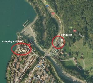 Map Camping und Parkplatz